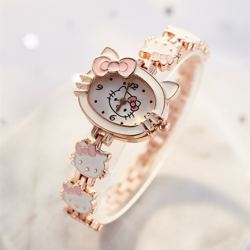 Kids Watches Hello Kitty Women Girls Watches Clock Children's Cute Cartoon Watch Gifts Relogio Infantil Montre Enfant