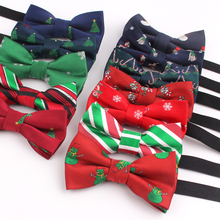 Bow-Tie Cravats Jacquard Christmas-Tree Party Boys Children Girls for Kids