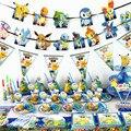 Реквизит для вечеринки в честь Дня Рождения с покемоном, соломенный баннер и т. д., товары для вечеринки в честь будущей матери, свадебное укр...
