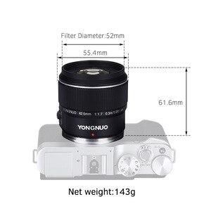 Image 3 - YONGNUO YN 42,5mm F 1,7 M Große Blende AF/MF Objektiv Standard Prime Objektiv für M4/3 berg DSLR Kameras für GF8 GF9 Olympus E PL9
