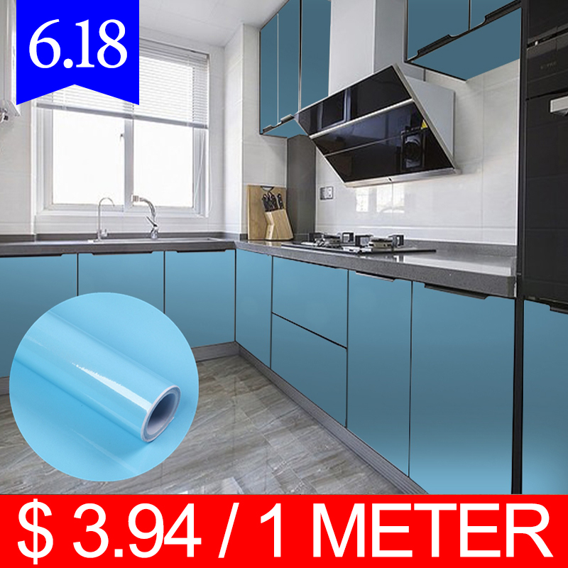 YOUMAN Wallpapers Self Adhesive Film Vinyl Furniture Wall Stickers PVC Modern Kitchen Cupboard Cabinet For Decorative Stickers