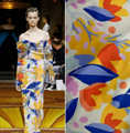 Large Flower Stretch Satin Fabric 100% Polyester Smooth and Comfortable Garment Sewing Fabric For Dress