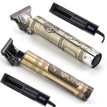 Profesjonalna akumulatorowa maszynka do włosów fryzjer Carving T Outliner Blade fryzjerstwo trymer do włosów budda blisko cutting Charger tanie tanio CkeyiN 14 3x3 9x2 4cm metal