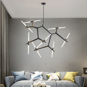 Современный декор в елочку, подвесное освещение для гостиной, столовой, отеля, ресторана, спальни, светодиодный подвесной светильник