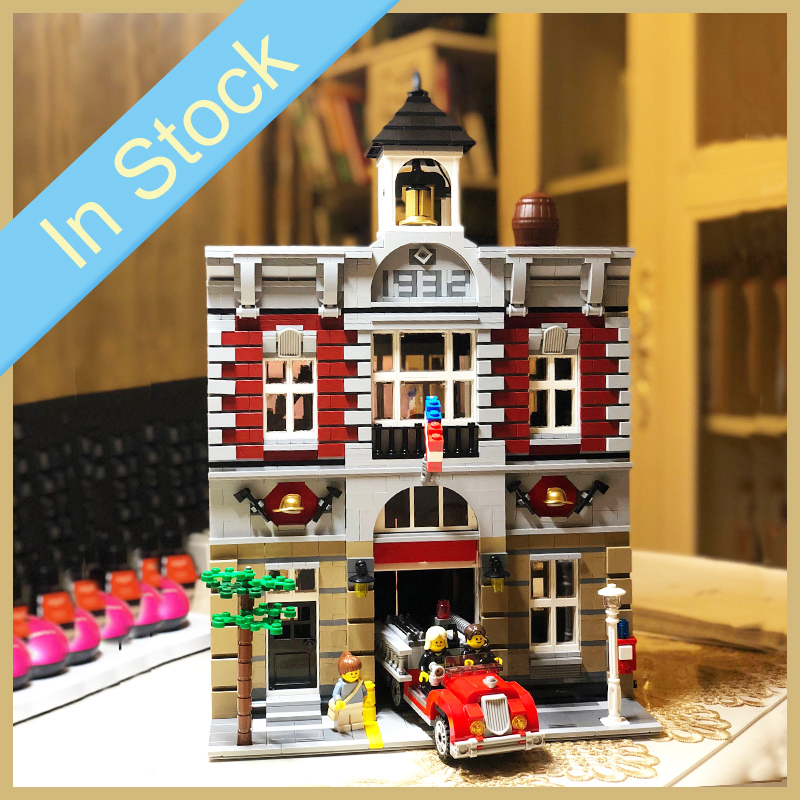 In stock 15004 2859Pcs City Street view series Fire Brigade Model Building Blocks Bricks Block Toys Christmas Gifts <font><b>10197</b></font> image