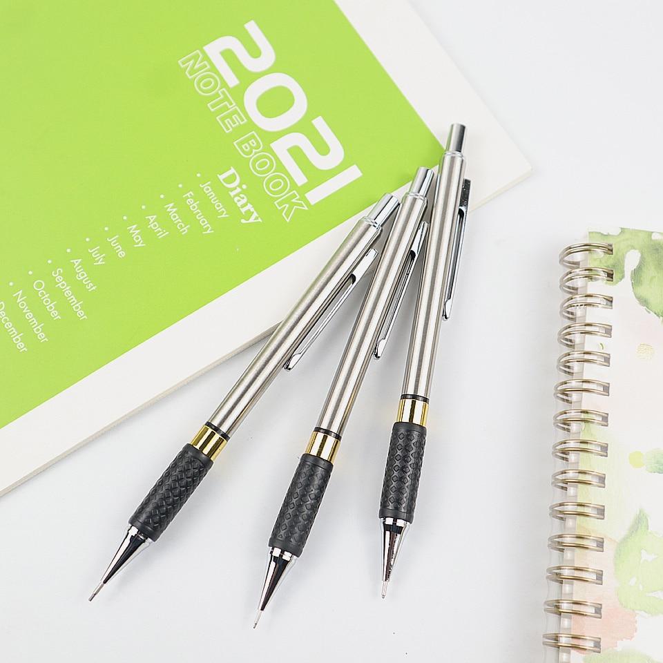 Металлический механический карандаш 0,5/0,7/0,9 мм, высококачественные автоматические карандаши для профессиональной живописи, письменные при...