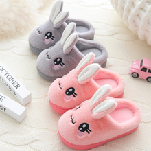 Plush Slippers Furry Indoor Shoes Baby-Girls Rabbit Boys Winter Children's Home New Cute