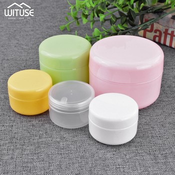 5PCS Refillable Bottles Plastic Empty Makeup Jar Pots Travel Face Cream Lotion Cosmetic Container Box Travel Bottle 20/50/100g 100ml empty clear pet cream container portable cosmetic travel shower lotion bottles personalized sample lotion bottle