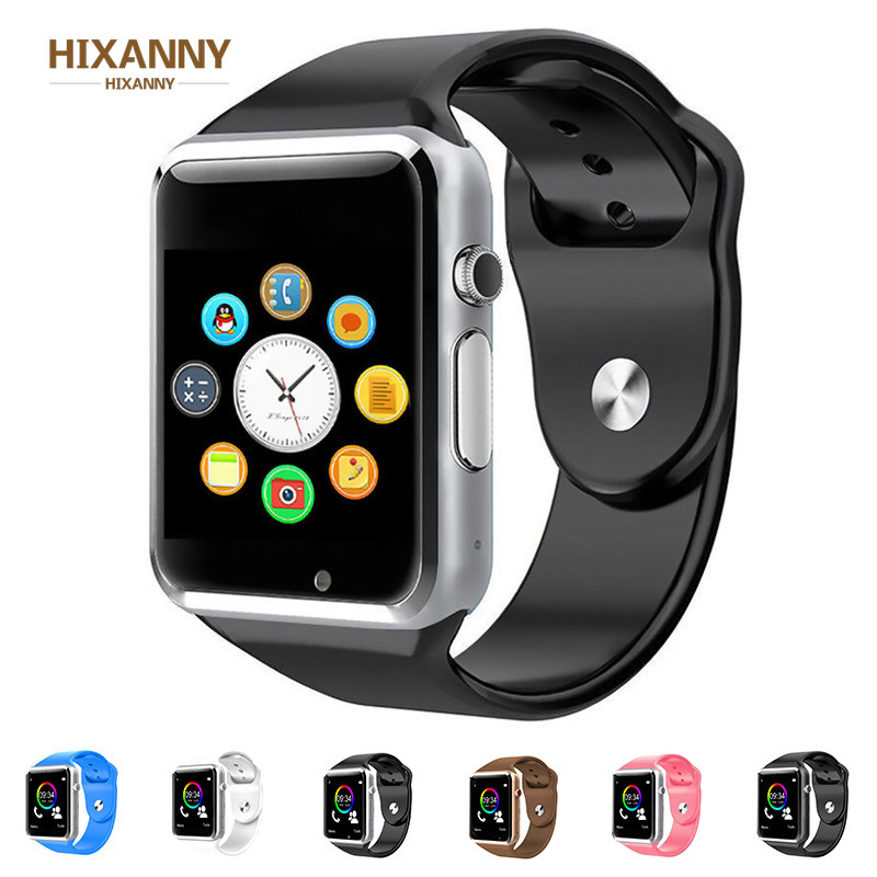 TOP <font><b>A1</b></font> WristWatch <font><b>Bluetooth</b></font> <font><b>Smart</b></font> <font><b>Watch</b></font> Sport Pedometer With SIM Camera Smartwatch For Android Smartphone Men women smartwatch image
