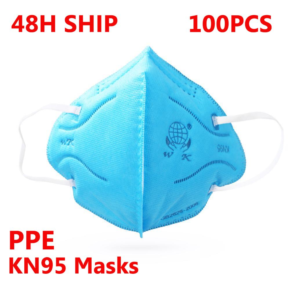 100pcs KN95 Masks Professional Protective Face Mask Anti-dust Filter Fold PPE Suit Face Cover Respirator as KN95 FFP3 FFP2 Masks