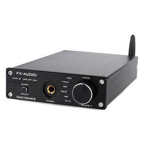 FX-Audio DAC-X6 MKII ESS9018 TPA6120 Chip Bluetooth 5.0 APTX SPDIF Coaxial PC-USB RCA Amplifier USB DAC Decoder