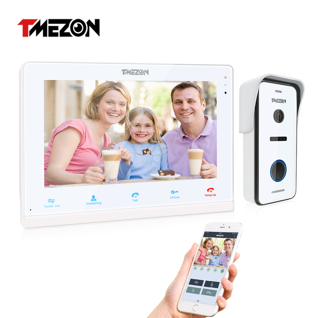 30%off for used TMEZON 10 Inch Wireless Wifi Smart IP Video Doorbell Home Intercom System,Touchscreen Monitor with 720P Camera