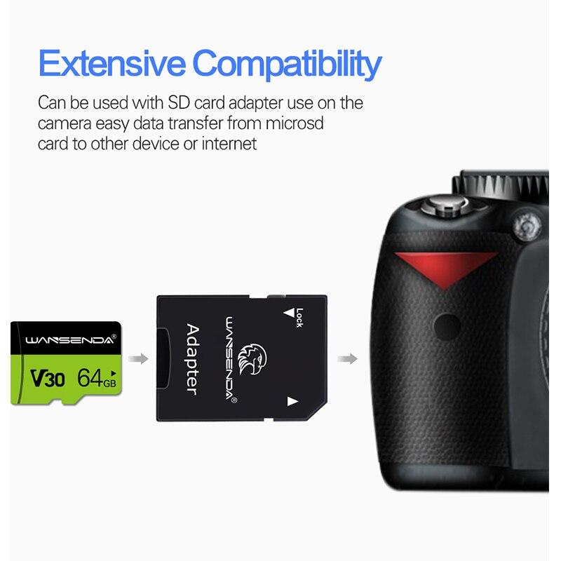 Высокое качество Wansenda Micro-SD карта 8 ГБ 16 ГБ 32 ГБ 64 Гб 128 ГБ 256 Гб карта памяти TF карта для смартфона планшета камера Бесплатный адаптер