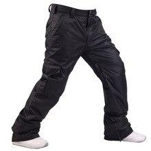 Зимние мужские 10K водонепроницаемые Сноубордические штаны лыжные штаны дышащие зимние брюки мужские s термальное катание на сноуборде и лыжах брюки-30 градусов