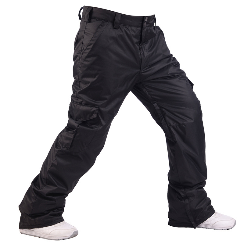 Hiver hommes 10K imperméable Snowboard pantalon Ski pantalon respirant neige pantalon hommes thermique Snowboard Ski pantalon-30 degrés