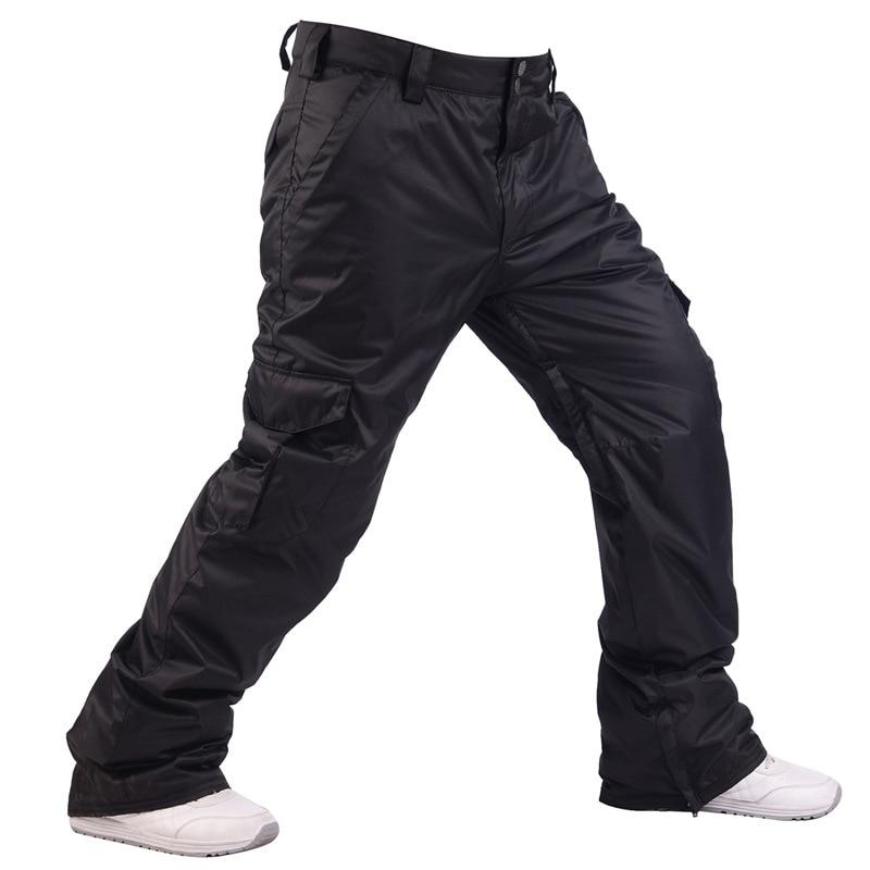 Winter Men 10K Waterproof Snowboard Pants Ski Pants Breathable Snow Pants Mens Thermal Snowboarding Skiing Trousers -30 Degree