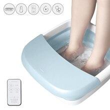 새로운 발 스파 마사지 전기 발 목욕 스파 장치 전기 난방 온도 발 마사지 기계 건강 반사 요법