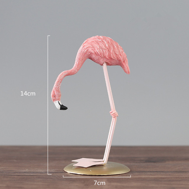 Nordic Style Flamingo Figurine Home Decoration Fairy Garden Livingroom Office Wedding Party Ornament Home Decor Accessories 3
