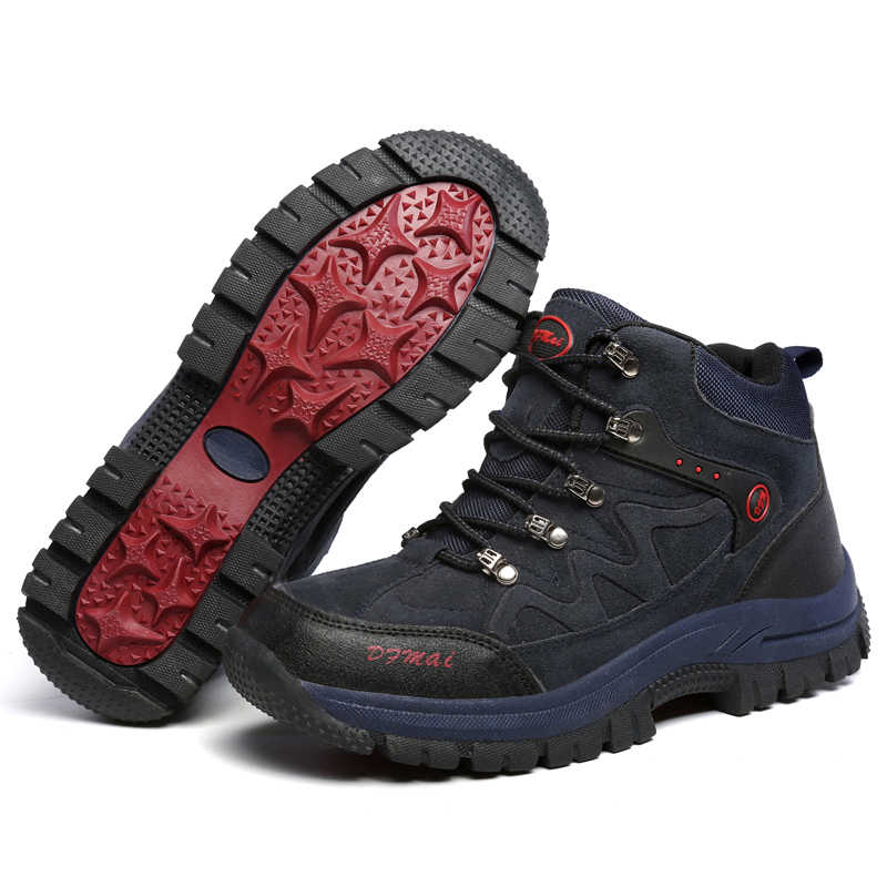 2019 Mans Winter Schoenen Lederen Travel Laarzen Mannen Waterdichte antislip Casual Schoenen Mannen Big Size Sneakers Hoge Kwaliteit schoeisel
