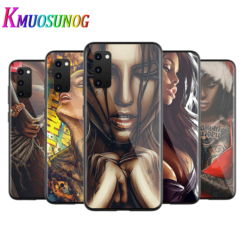 Cool Fashion Sexy Tattoo Girl for Samsung Galaxy A12 S20 FE Plus Ultra Note 10 Lite A91 A71 A51 A42 A21S 5G Phone Case