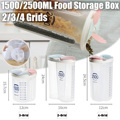 Отдельные прозрачные бутылки для хранения зерна бытовые кухонные пищевые влагостойкие Герметичные банки сухой контейнер для крупы бутылк...