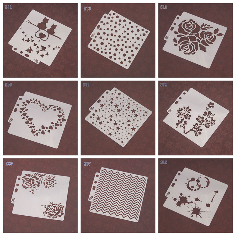 New Flower/Number/Heart Layering Stencils For Walls Painting Scrapbooking Album Decor Embossing Paper Cards DIY Drawing Template