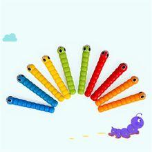 1 палочка + 5 червей для ловли червя, игра клубника, искусственные деревянные игрушки