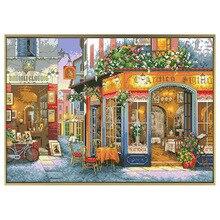Счастье угол Счетный Набор для вышивания крестиком печатных парусиновая обувь с вышивкой, 11CT 14CT для рукоделия и Декор для дома ручной работы Картины