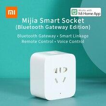 Xiaomi Mijia prise intelligente Bluetooth passerelle Version 2 voies USB sortie de puissance prise synchronisation APP télécommande travail avec lapplication Mi maison