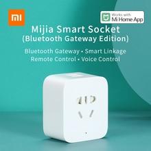 Xiaomi enchufe inteligente Mijia Bluetooth Gateway, 2 vías, toma de corriente USB, Control remoto por APP, funciona con la aplicación Mi home