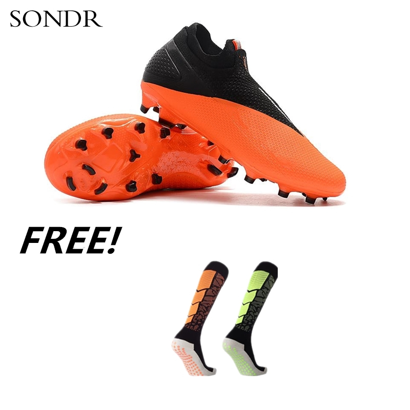 Новые уличные мужские футбольные бутсы высокие лодыжки бутсы тренировочные спортивные кроссовки FG