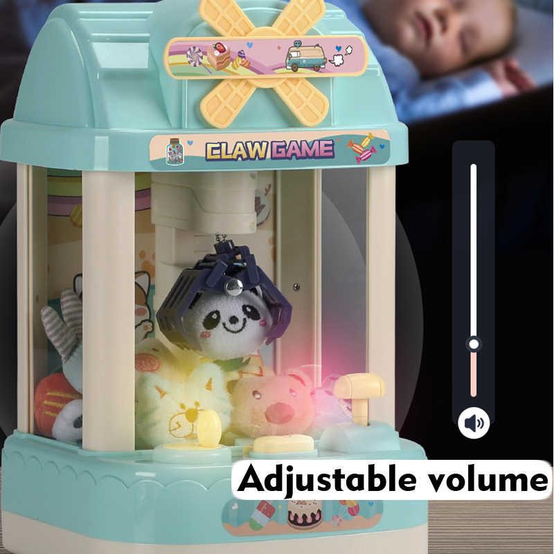 Çocuk bebek Catcher pençe makinesi jetonlu şeker kapmak oyun müzik çalar saat Mini atari makinesi masaüstü hediye çocuklar için