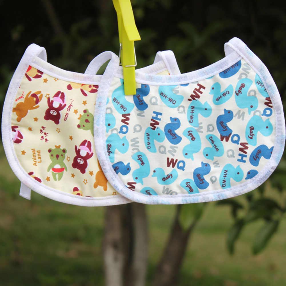 1 Uds. De algodón Baberos de bebé bonitos recién nacidos niños de algodón eructos Bandana bebé alimentación bufanda babero Saliva toalla-al azar