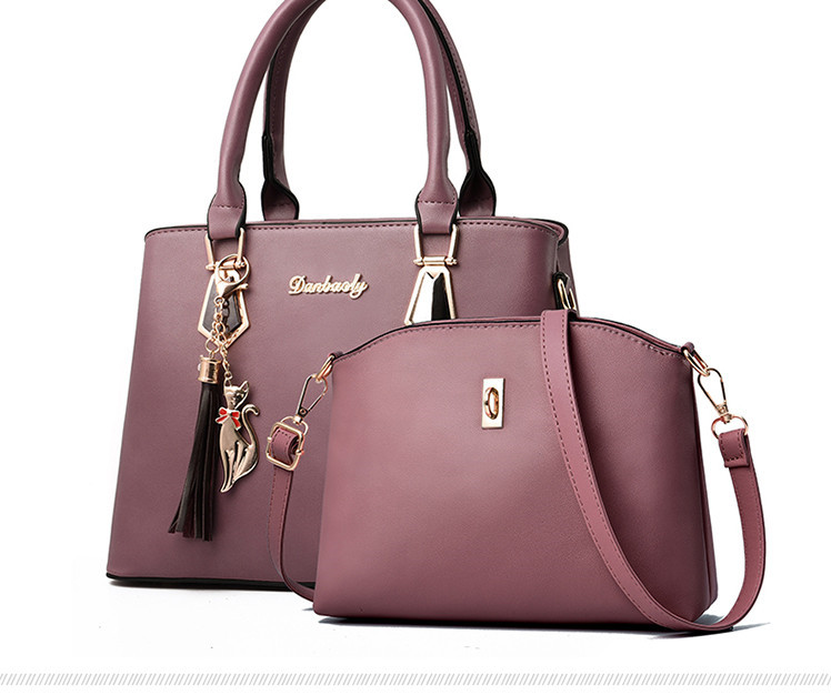 He0fa072a91944b63b03666212ec123dbJ - Fashion Woman Bag Female Hand Tote Bag Messenger Shoulder Bag  Lady HandBag Set Luxury Hand bag composite bag  bolsos