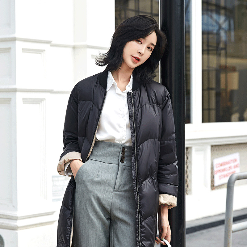 90% White Duck Down Jacket Women Oversized Winter Coat Women Down Coat Puffer Jacket Warm Parka Abrigos 1818 YY1410
