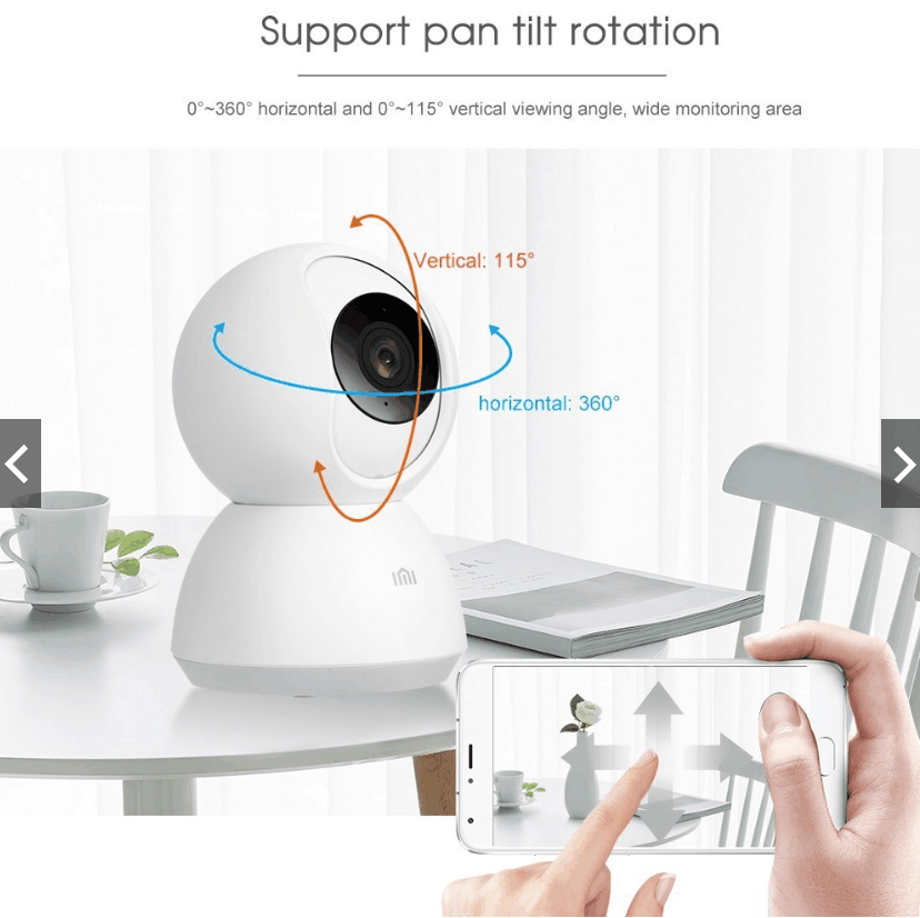 Xiaomi Smart-Camera Video 1296P Voice-Wifi Baby-View Night-Vision 1080P 360-Angle PTZ