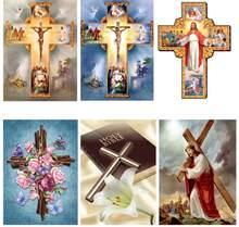 5d diy diamante incrustado diamante bordado pintura de diamante cruz cristã jesus cristo bordado ponto cruz decoração para casa