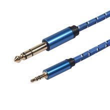 Audio Line Cable Vent 3.5Mm To 6.5Mm Audio Jack Cable 3.5 To 6.35 Male To Male Guitar Mixer Amplifier Cd Player Auxiliary Line born to play guitar cd