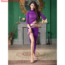 Belly Dance Practice Clothes New Autumn Top Skirt Set Adult Oriental Indian Dancing Beginner Dancer Group Performance Stage Wear