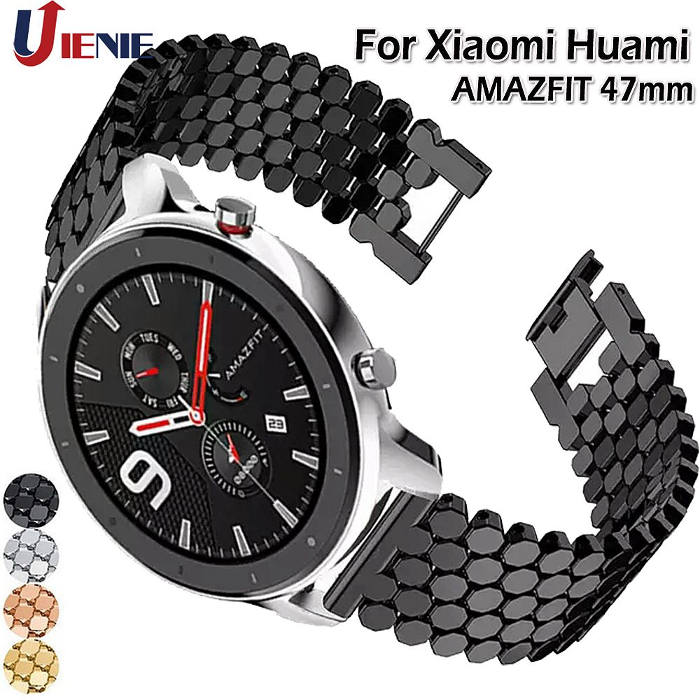 Band For Huami AMAZFIT GTR 47mm Watchband Strap Stainless Steel Alloy Wristband For Galaxy Watch 46mm Gear S3 Frontier Bracelet