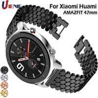 Banda para Huami AMAZFIT GTR 47mm correa de reloj pulsera de aleación de acero inoxidable para Galaxy Watch 46mm Gear S3 frontera pulsera
