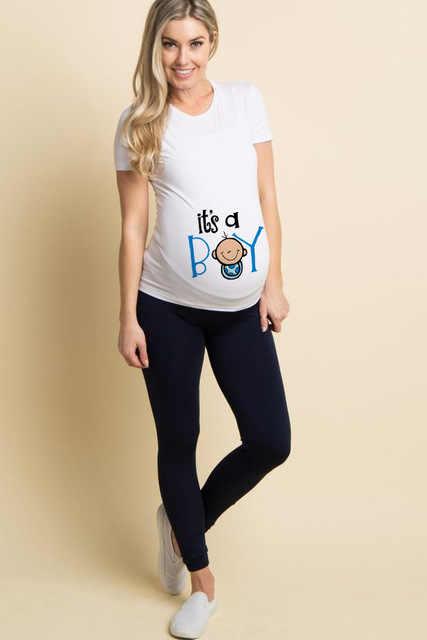 ملابس للسيدات الحوامل على الموضة للصيف بلوزات بكيني للأطفال مطبوع عليها سحّاب مضحك برقبة دائرية تخفيضات هائلة ملابس علوية للحوامل