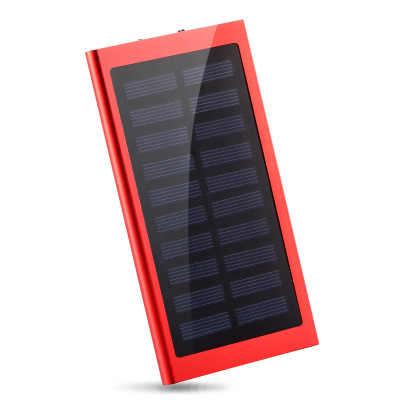 30000mAh güneş enerjisi bankası taşınabilir su geçirmez pil Powerbank hızlı şarj harici pil LED tüm akıllı telefon için Iphone