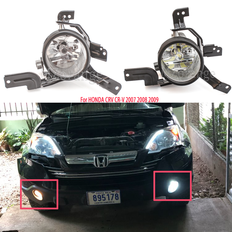 For HONDA CRV 2008 Fog Lights LED Foglights Assembly CR-V 2007 2009 Halogen Fog Lamps Day Light Headlight Headlights Fog Light