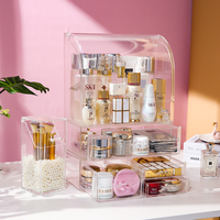 AF acrylic arch shape large makeup cosmetics storage drawer box clear plastic makeup cosmetic bottles storage holders