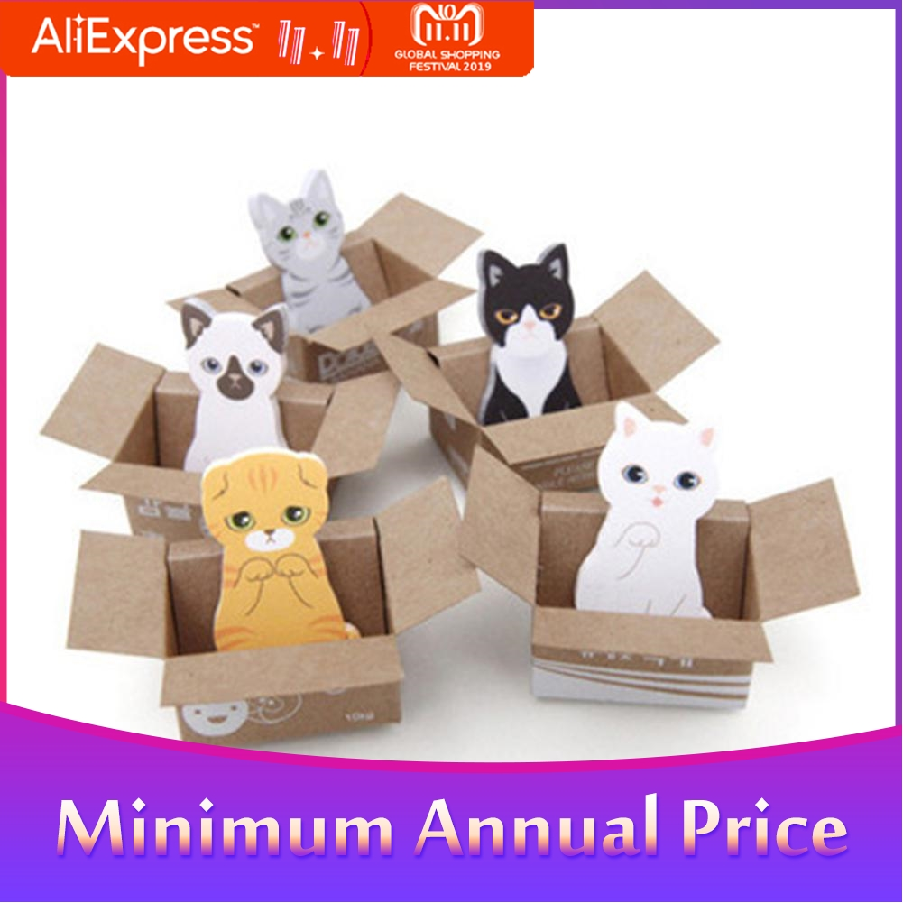ForKawaii Cat Dog Box Stickers Cute Cartoon Korean Stationery Sticky Notes Office School Supplies  Memo Pad Scrapbook R20