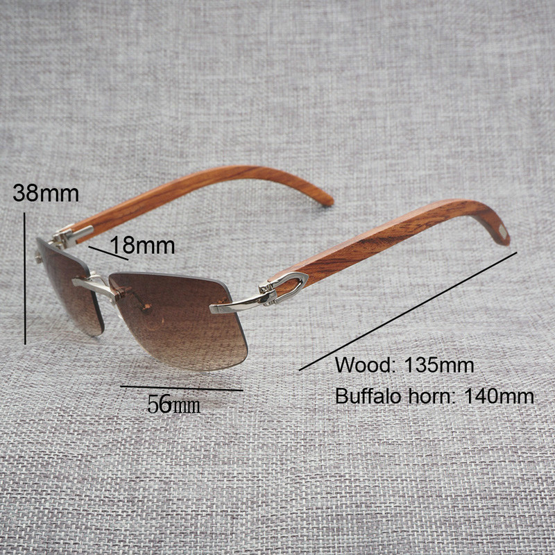 Black White Natural Buffalo Horn Sunglasses Men Wood Rimless Mirror Gafas for Driving Club Clear Glasses Frame Oculos Shades 012 in Men 39 s Sunglasses from Apparel Accessories