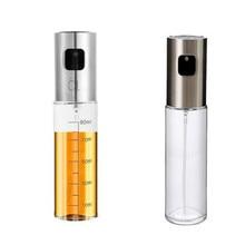 1 個キッチンベーキングガラスオリーブオイル噴霧器オイルスプレー空ボトル酢ボトルオイルディスペンサー調理サラダバーベキューAP11091505