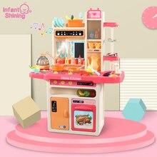 Juego de cocina brillante para bebés, juego de simulación de cocina infantil, 65 unidades