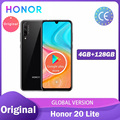 Глобальная версия HONOR 20 Lite мобильные телефоны 4 ГБ 128 ГБ Kirin 710 6,3 дюйма Octa Quick charge Google play ны Фо